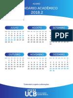 Calendário Academico 2018 UCB