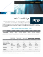 Datasheet Velocloud Edge Throughput 10 | Cloud Computing
