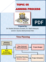 Topic 05 Time Planning Process