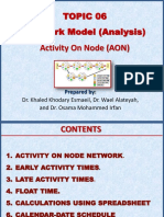 Topic 06 Activity on Node Approach