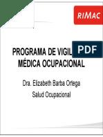 Programa de Vigilancia Medica Ocupacional