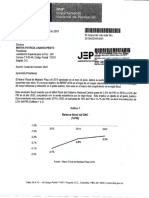 La carta con la que el Gobierno notifica a JEP de reducción de presupuesto para 2020