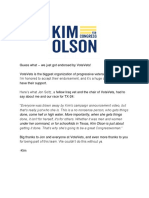 Kim Olson for Congress - TX-24 - Big Endorsement News Inside!
