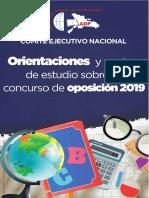 Orientaciones y pautas de estudio sobre el concurso de oposición 2019..pdf