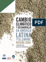 Cambio climático y desarrollo en América Latina