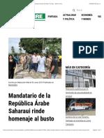 Mandatario de la República Árabe Saharaui rinde homenaje al busto de Omar Torrijos - Metro Libre