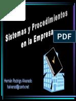 Sistema y procedimientos en la empresa