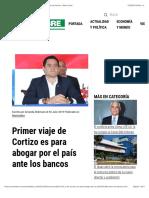 Primer viaje de Cortizo es para abogar por el país ante los bancos - Metro Libre