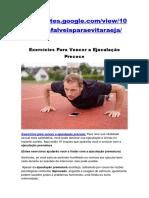 Exercícios Para Vencer a Ejaculação Precoce