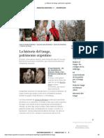 La Historia Del Tango, Patrimonio Argentino