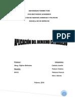 Aplicacion Del Dercho Extranjero