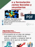 FORMULACION DE PROYECTOS SOCIALES Y COMUNITARIOS - RODOLFO ACOSTA
