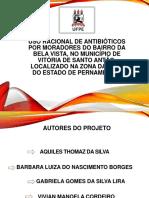 Uso racional de antibióticos por moradores do Bairro da Bela Vista