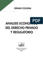 Análisis Económico Del Derecho Privado y Regulatorio