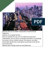 Buenos Aires Es La Ciudad Mas Grande e Importante de Argentina