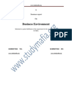 MBA Business Environment REPORT