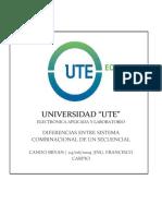 Diferencias sistemas combinacionales y secuenciales