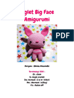 Piglet Big Face amigurumi pattern
