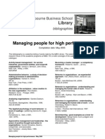 Managing People for High Performance