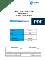Lte l1800 Philalum Ssv Acceptance Report