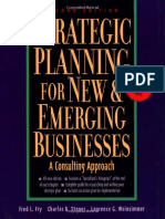 Fred L. Fry, Charles Stoner, Laurence Weinzimmer - Strategic Planning for New & Emerging Businesses_ a Consulting Approach (1999, Kaplan Business)