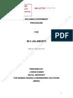 Inclining Experiment Procedure m v Jalamurti