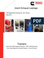 CES AE Training Exhaust Leakage T4F 2013Mar5 Rev0