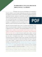 LA LECTURA COMO HERRAMIENTA VITAL EN EL PROCESO DE DESARROLLO SOCIAL Y ACADÉMICO.docx