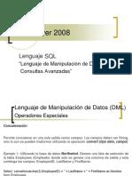 Lenguaje SQL Lenguaje de Manipulación de Datos (DML) –   Consultas Avanzadas