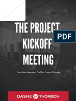 Dashe Thomson the Project Kickoff Meeting Your Most Important Tool for Project Success