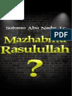 Buku Mazhabku Rosulullah?