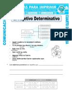 Ficha Adjetivos Determinativos Para Cuarto de Primaria