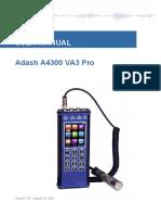 Adash A4300 VA3 Pro Manual