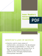 Isaac Newton's Universal law of Gravitation.pptx