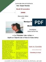 Pinçon-Charlot viennent à Chambéry