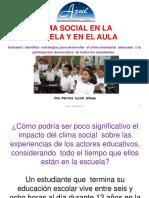 Clima Social en La Escuela y en El Aula
