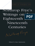 (Collected Works of Northrop Frye) Imre Salusinszky - Northrop Frye's Writings on the Eighteenth and Nineteenth Centuries-University of Toronto Press (2005).pdf