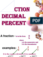Decimal Fraction Percent