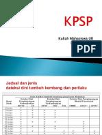 Kuliah 4- Skrining Perkembangn KPSP