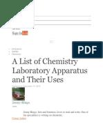 Common Laboratory Equipment.docx