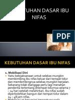 kebutuhan dasar ibu ifas (VI) -.ppt