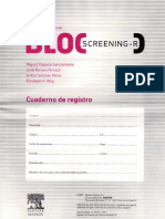 Cuaderno de Registro Bloc Screening Revisado (BLOC-R)