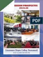 Thannamandi Prospectus 2019-20
