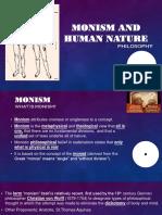 Monism and Human Nature
