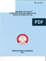IRC 121-2017 Guidlines for Use of Construction and Demolition Waste in Road Sector-1