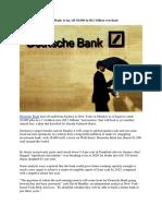 Big Axe Falls as Deutsche Bank to Lay Off 18