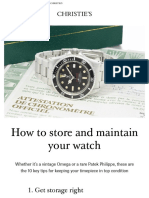 How to store and maintain your watch | Christie's