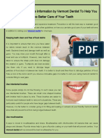 Valuable Dental Care Information by Vermont Dentist to Help You Take Better Care of Your Teeth (1)