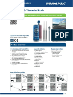 Chemical bolt technical data