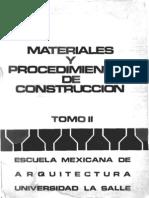 Materiales y Procedimientos de Construccion - Tomo 2